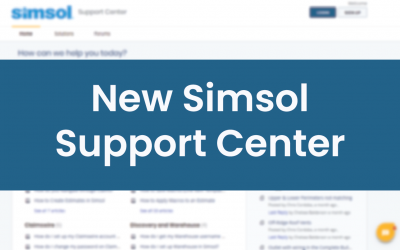 Introducing the New Simsol Support Center
